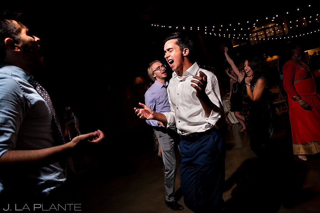 Reception dance party | Larkspur Wedding | Denver Same Sex Wedding Photographer | J. La Plante Photo