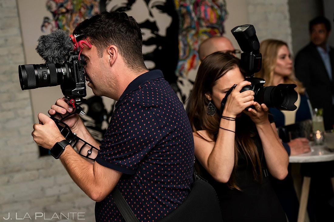 Wedding Photographers at Work | Pine Creek Cookhouse Wedding | Aspen Wedding Photographer | J. La Plante Photo