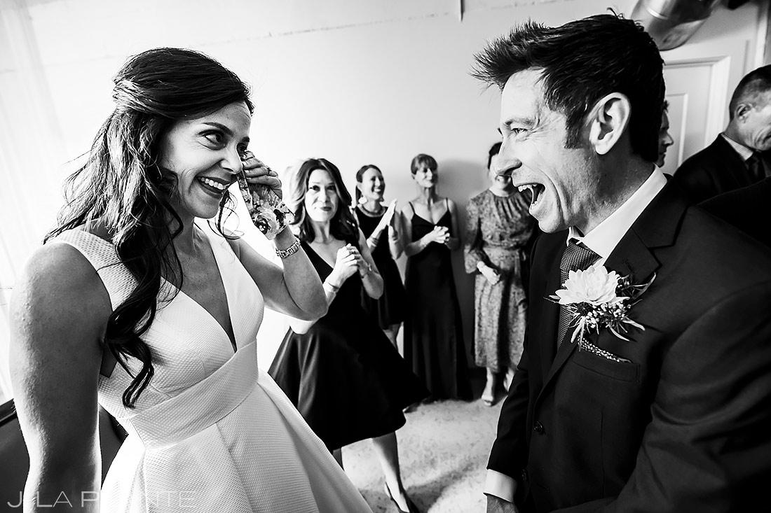 Bride and Groom First Look | The St. Vrain Wedding | Boulder Wedding Photographer | J. La Plante Photo