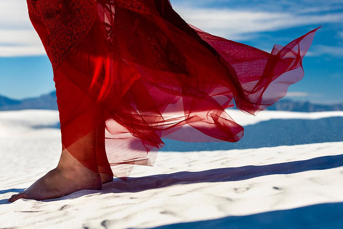 Bride at Sand Dunes | White Sands Engagement | Destination Wedding Photographer | J. La Plante Photo
