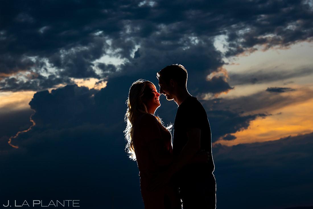 Sunset Engagement Portrait | Colorado Paint Mines Engagement | Colorado Wedding Photographer | J. La Plante Photo