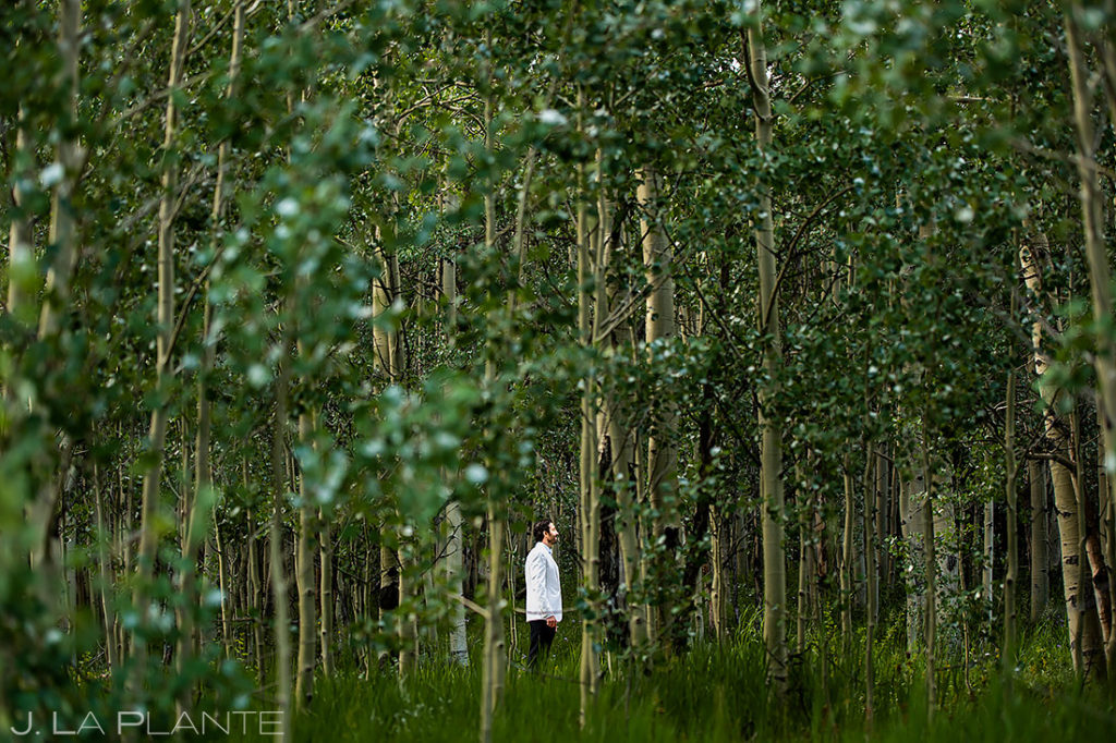 Groom Hanging Out Before Ceremony | Pine Creek Cookhouse Wedding | Aspen Wedding Photographer | J. La Plante Photo