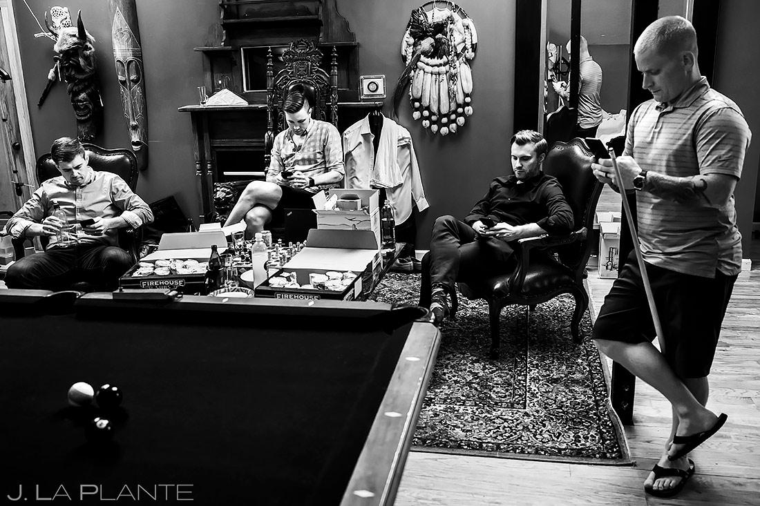 Groomsmen Hanging Out | Lionsgate Wedding | Boulder Wedding Photographer | J. La Plante Photo