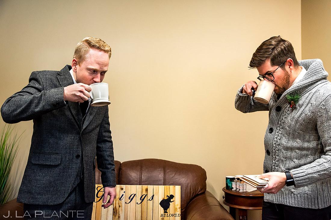 Groomsmen Getting Ready | Lodge at Cathedral Pines Wedding | Colorado Springs Wedding Photographer | J. La Plante Photo