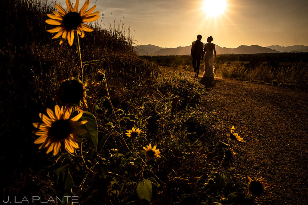 Bride and Groom Sunset Photo | Lionsgate Wedding | Boulder Wedding Photographer | J. La Plante Photo