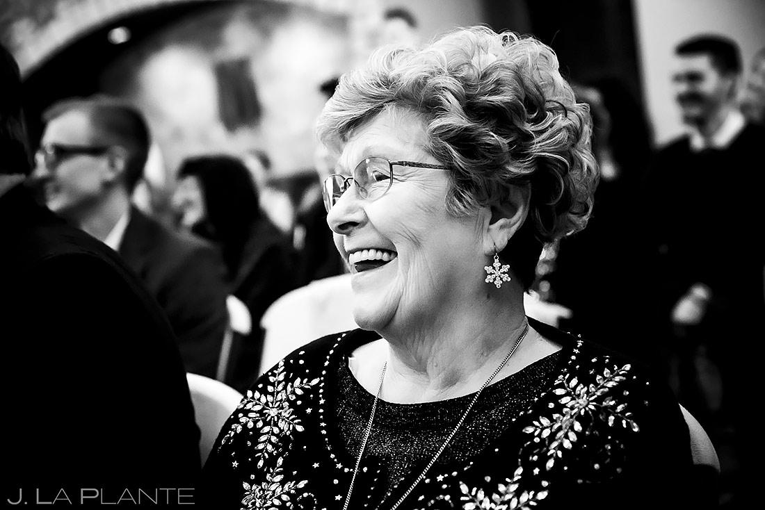 Winter Wedding Ceremony | Lodge at Cathedral Pines Wedding | Colorado Springs Wedding Photographer | J. La Plante Photo