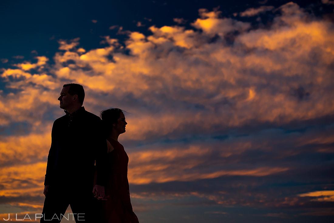 Sunset Engagement Photo | New Mexico Engagement | Destination Wedding Photographer | J. La Plante Photo