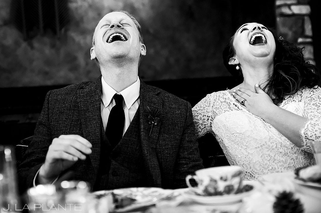 Wedding Toasts | Lodge at Cathedral Pines Wedding | Colorado Springs Wedding Photographer | J. La Plante Photo