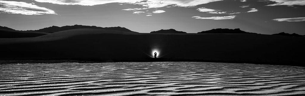 Bride and Groom at Sand Dunes | White Sands Engagement | Destination Wedding Photographer | J. La Plante Photo