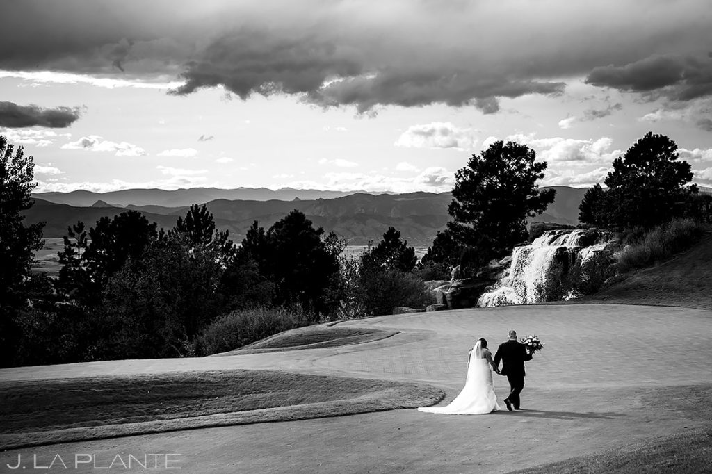 Bride and Groom Golfing | Sanctuary Golf Course Wedding | Denver Wedding Photographer | J. La Plante Photo
