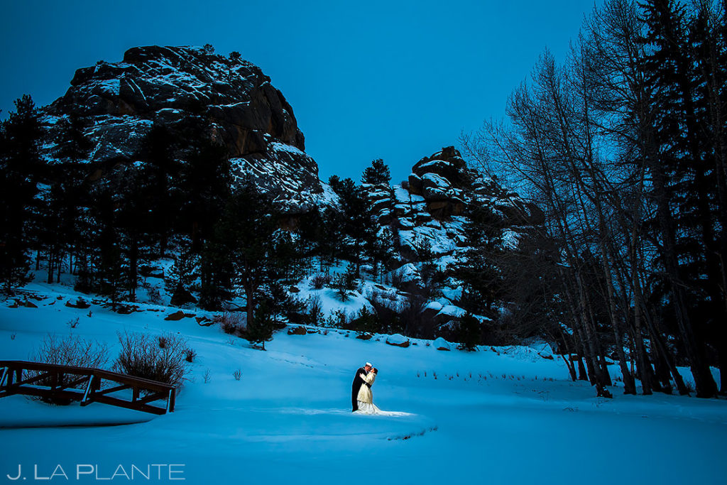 Winter Wonderland Wedding | Black Canyon Inn Wedding | Estes Park Wedding Photographer | J. La Plante Photo