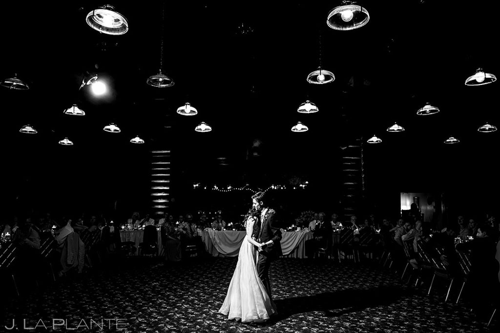 Bride and Groom First Dance | Dao House Wedding | Estes Park Wedding Photographer | J. La Plante Photo