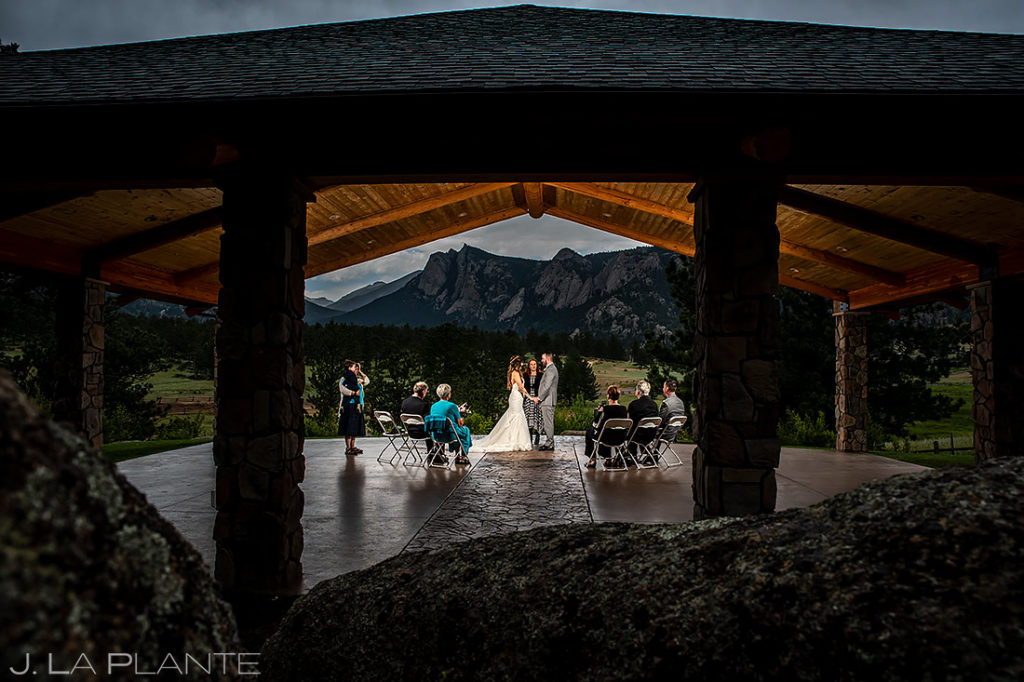 Mountain Wedding Ceremony | Black Canyon Inn Elopement | Estes Park Wedding Photographer | J. La Plante Photo