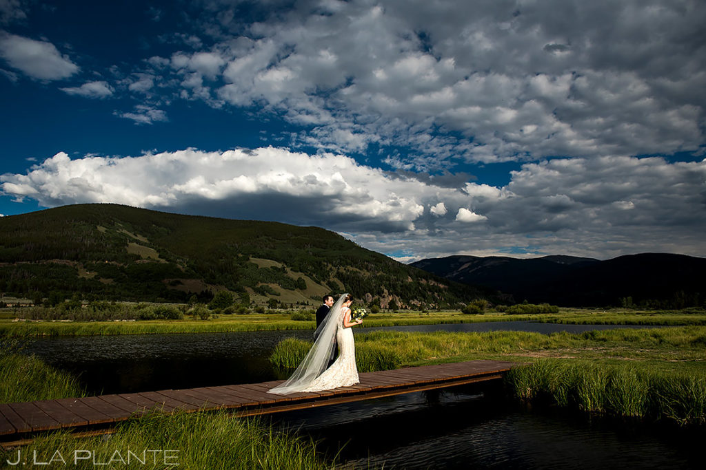 Wedding Dress and Veil | Camp Hale Wedding | Vail Wedding Photographer | J. La Plante Photo