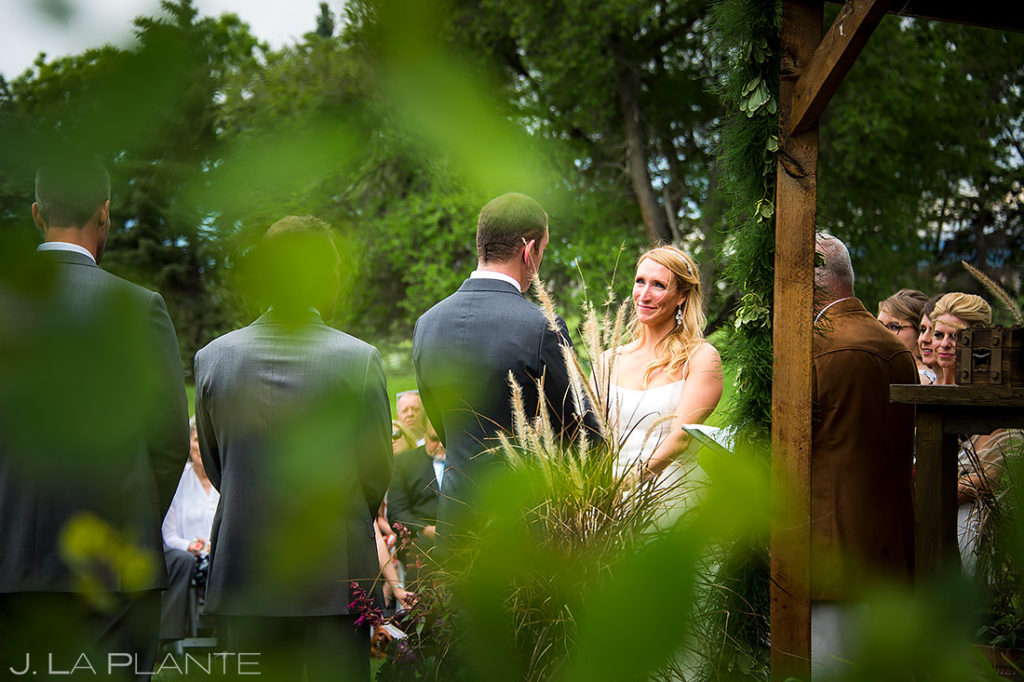 Bride and Groom Wedding Ceremony | Chatfield Farms Wedding | Denver Wedding Photographer | J. La Plante Photo