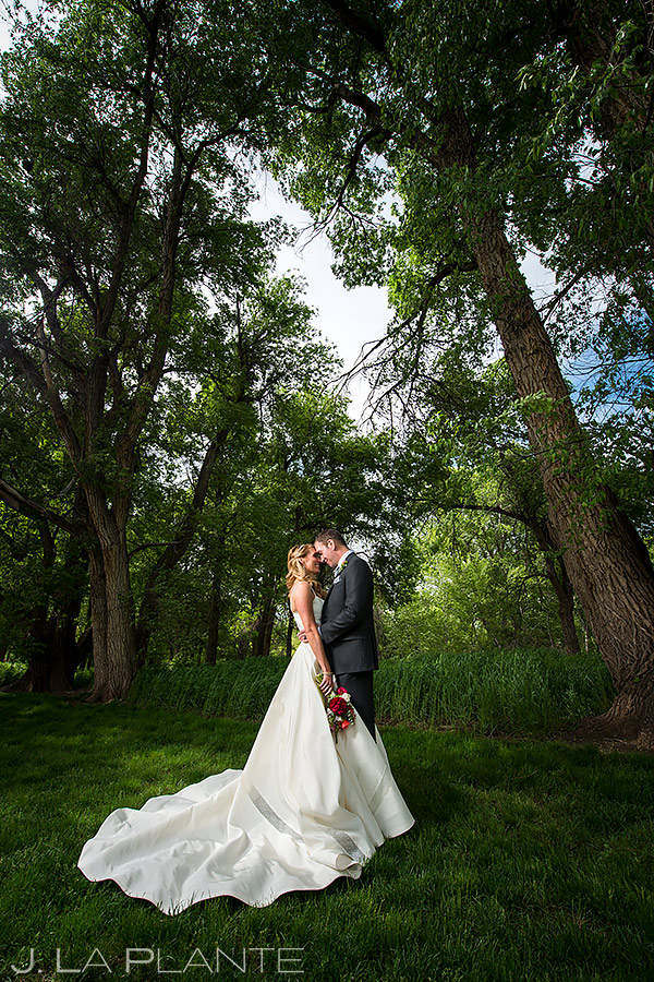 Bride and Groom Wedding Portrait | Chatfield Farms Wedding | Denver Wedding Photographer | J. La Plante Photo