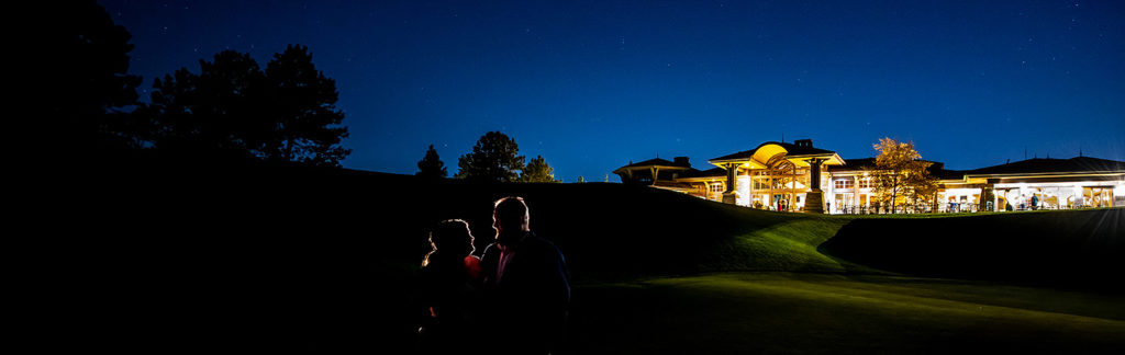 Bride and Groom Under the Stars | Sanctuary Golf Course Wedding | Denver Wedding Photographer | J. La Plante Photo