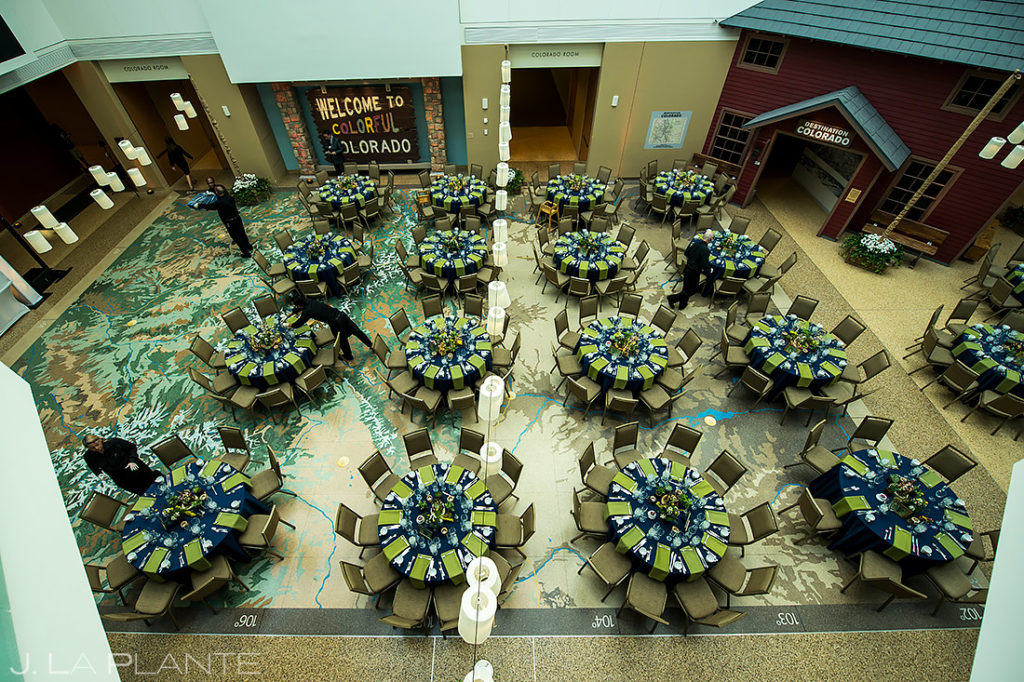 Wedding Reception Hall Detail Photos | History Colorado Wedding | Denver Wedding Photographer | J. La Plante Photo