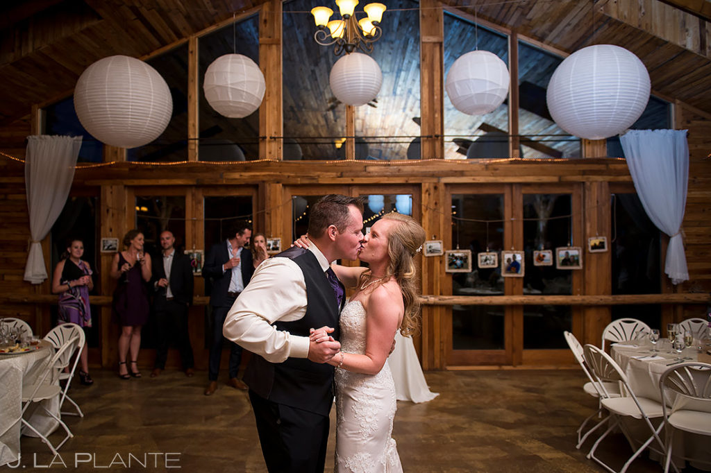 Bride and Groom First Dance | Mountain View Ranch Wedding | Colorado Wedding Photographer | J. La Plante Photo