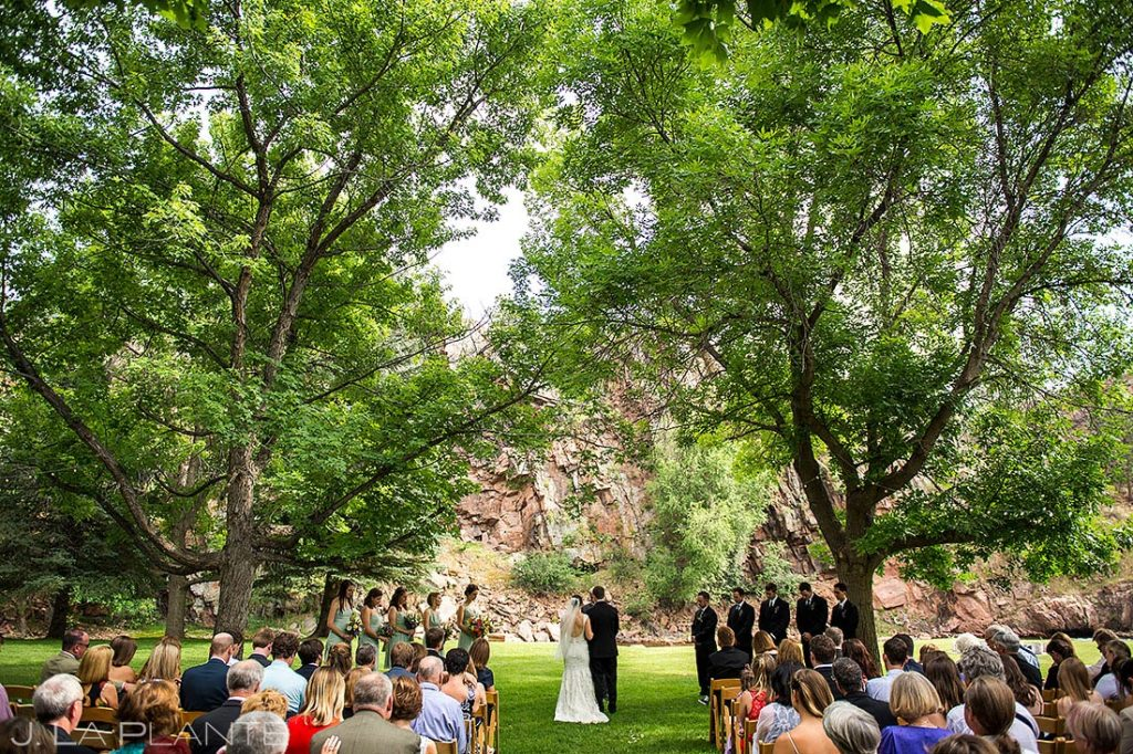 Rustic Riverside Wedding Ceremony | River Bend Wedding | Boulder Wedding Photographer | J. La Plante Photo