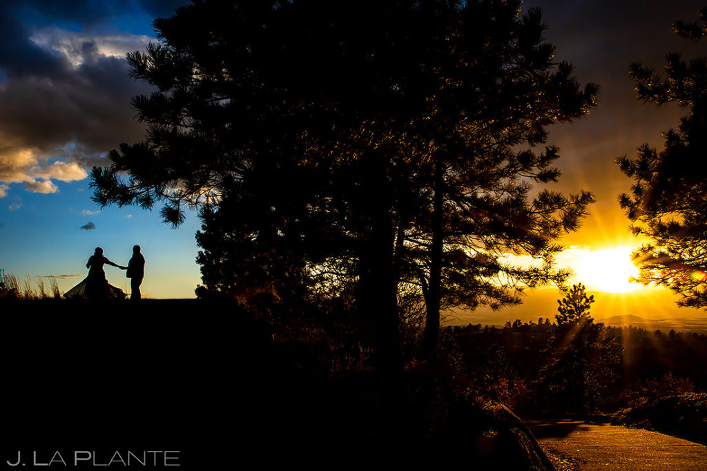 Sunset Wedding Photo | Sanctuary Golf Course Wedding | Denver Wedding Photographer | J. La Plante Photo