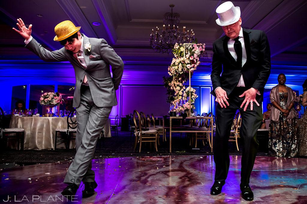 Father and Son Dancing Michael Jackson | St. Regis Aspen Wedding | Aspen Wedding Photographer | J. La Plante Photo