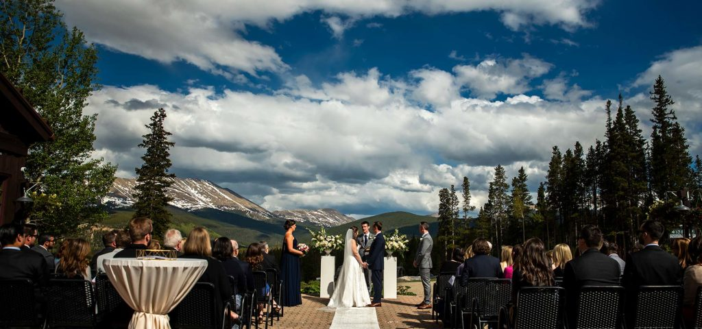 Epic Mountain Wedding Ceremony | TenMile Station Wedding | Breckenridge Wedding Photographer | J. La Plante Photo