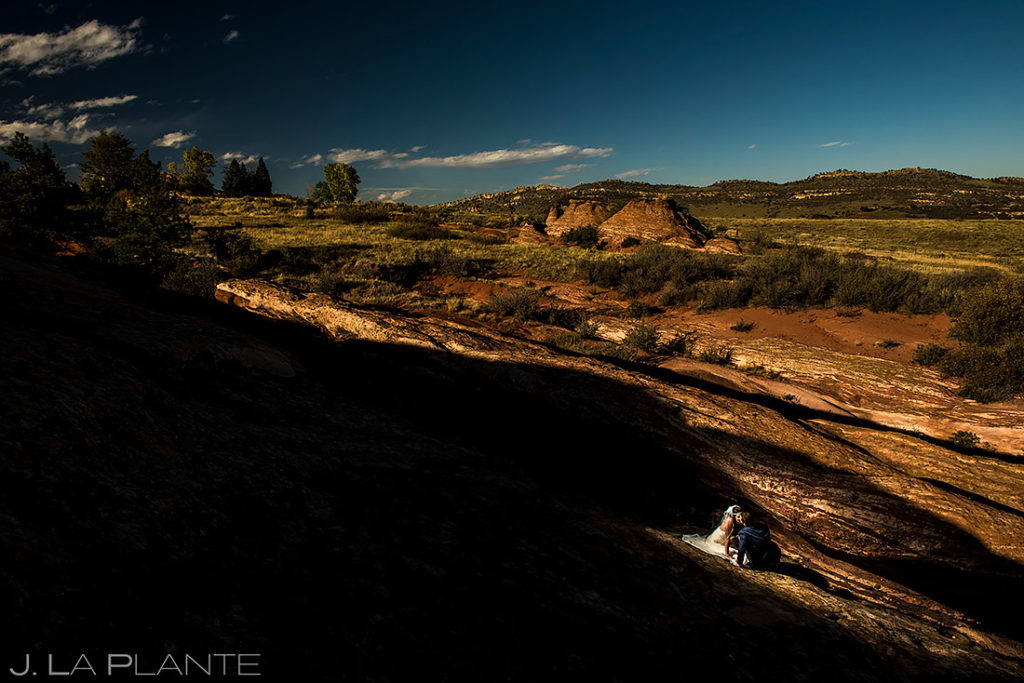 Bride and Groom at Red Rocks | Willow Ridge Manor Wedding | Denver Wedding Photographer | J. La Plante Photo