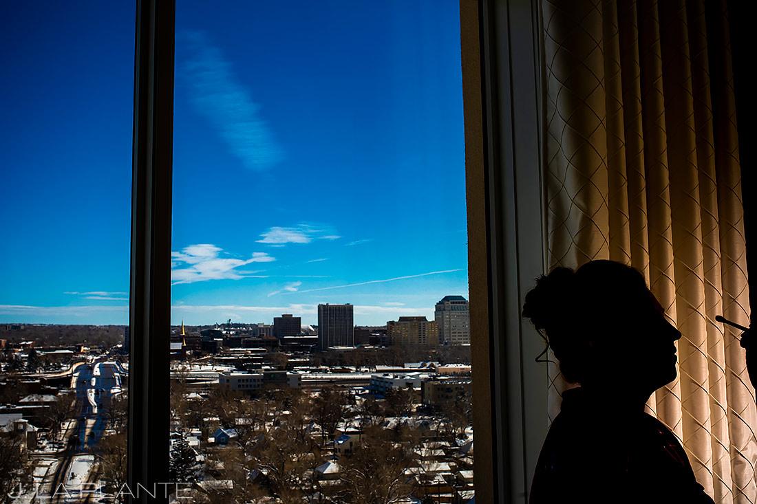 Bride Getting Ready | Urban Wedding | Colorado Springs Wedding Photographer | J. La Plante Photo
