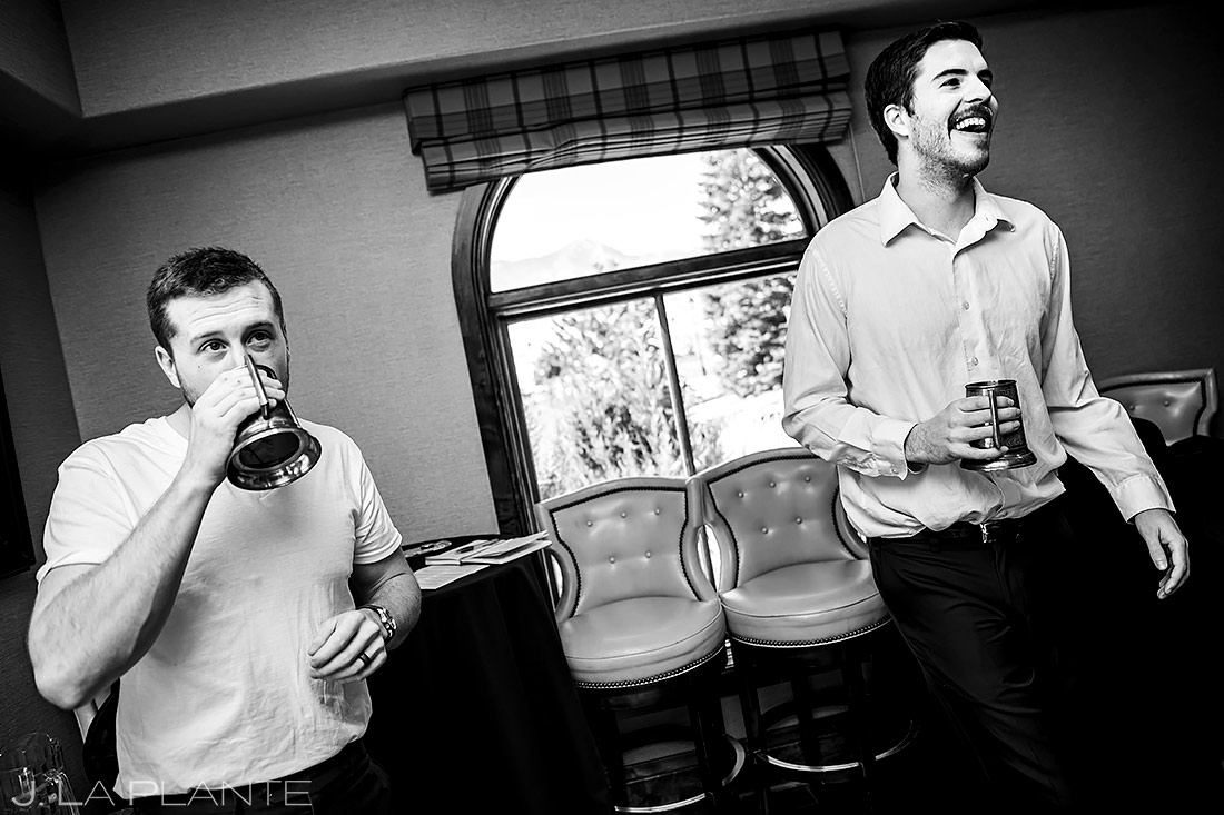 Groomsmen Hanging Out | Urban Wedding | Colorado Springs Wedding Photographer | J. La Plante Photo