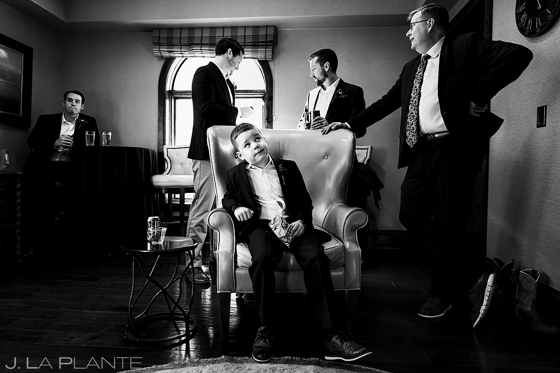 Groomsmen Hanging Out | Pinery at the Hill Wedding | Colorado Springs Wedding Photographer | J. La Plante Photo