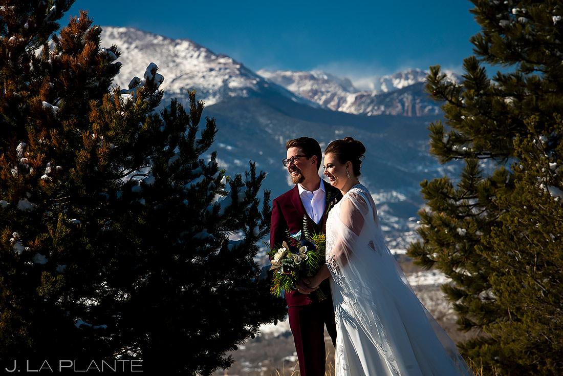 Unique Bride and Groom Photo | Pinery at the Hill Wedding | Colorado Springs Wedding Photographer | J. La Plante Photo