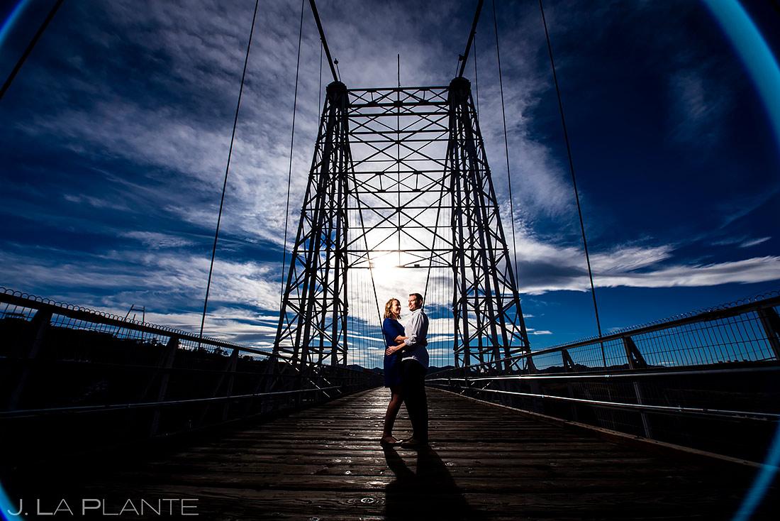 Bride and Groom on Royal Gorge Bridge | Colorado Engagement | Colorado Wedding Photographer | J. La Plante Photo
