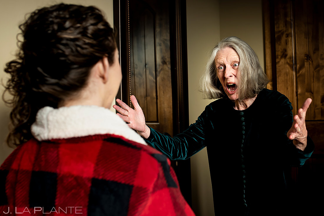 Mother of the Groom First Look   Lodge at Cathedral Pines Wedding   Colorado Springs Wedding Photographer   J. La Plante Photo