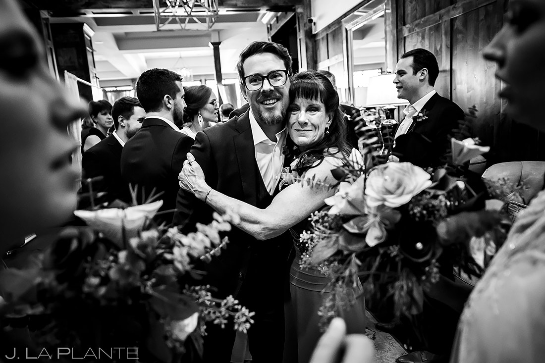 Groom Hugging Mother | Pinery at the Hill Wedding | Colorado Springs Wedding Photographer | J. La Plante Photo