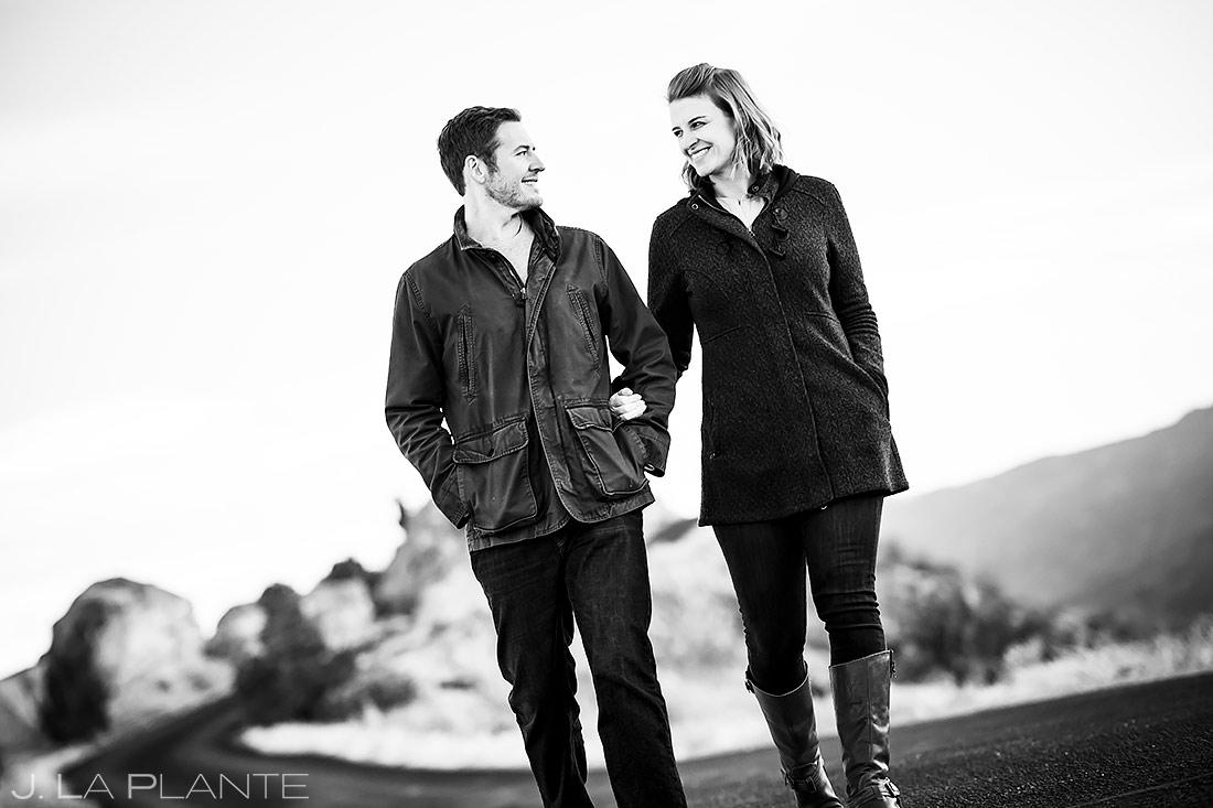 Bride and Groom Hiking | Royal Gorge Engagement | Colorado Wedding Photographer | J. La Plante Photo