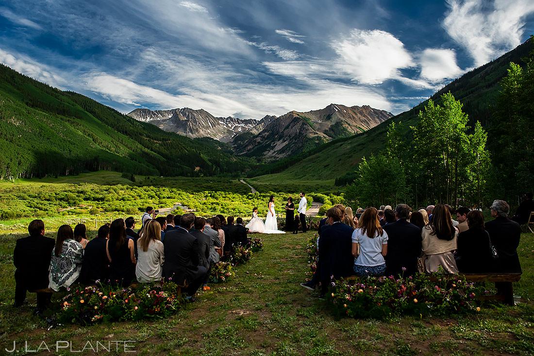 Mountain Wedding Ceremony   Pine Creek Cookhouse Wedding   Aspen Wedding Photographer   J. La Plante Photo