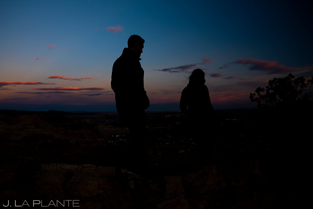 Unique Sunset Engagement Photos | Royal Gorge Engagement | Colorado Wedding Photographer | J. La Plante Photo