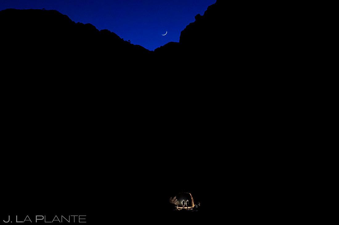 Unique Nighttime Engagement Photos | Royal Gorge Engagement | Colorado Wedding Photographer | J. La Plante Photo