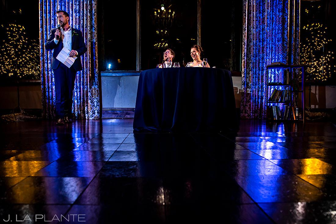 Wedding Toasts | Pinery at the Hill Wedding | Colorado Springs Wedding Photographer | J. La Plante Photo