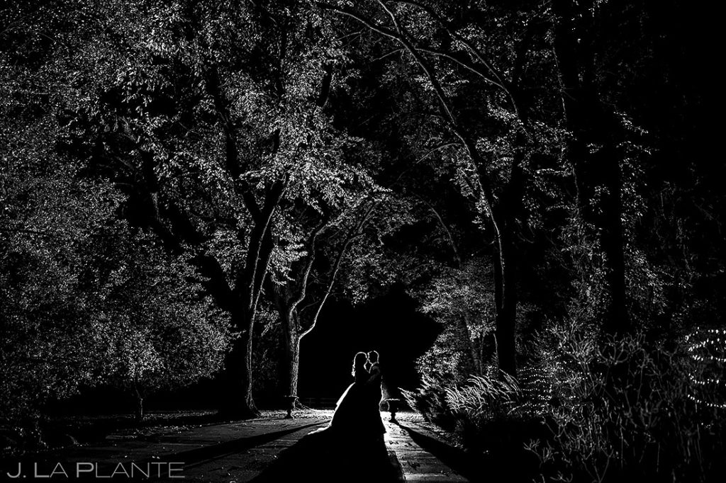 Nighttime Wedding Portrait | Tapestry House Wedding | Fort Collins Wedding Photographer | J. La Plante Photo