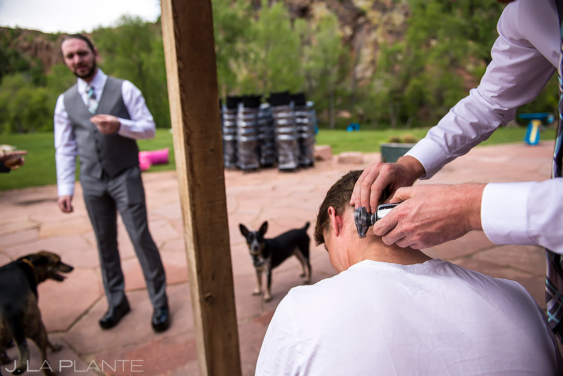 how to include your pets in your wedding   Planet Bluegrass Wedding   Boulder Wedding Photographer   J. La Plante Photo