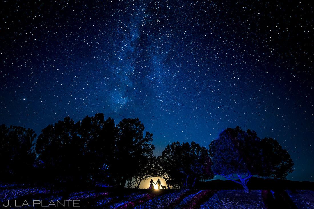 Bride and Groom with Dog   Buena Vista Wedding   Colorado Wedding Photographer   J. La Plante Photo