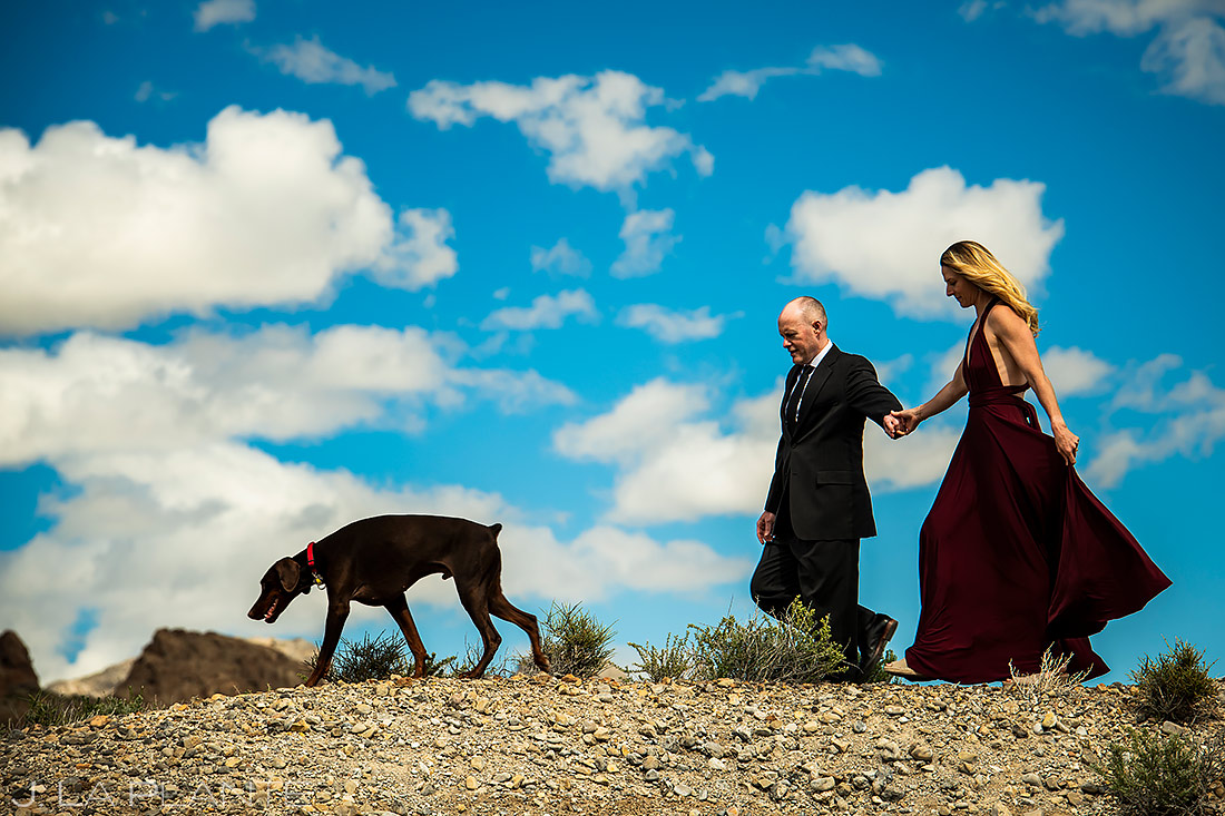 how to include your pets in your wedding | Boulder Engagement | Boulder Wedding Photographer | J. La Plante Photo