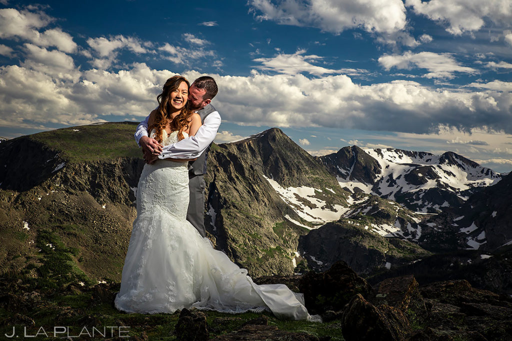 Bride and Groom Mountain Wedding Photo | Black Canyon Inn Wedding | Estes Park Wedding Photographer | J. La Plante Photo