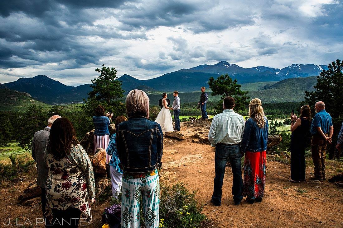 Rocky Mountain National Park Wedding Ceremony | 3M Curve Wedding | Estes Park Wedding Photographer | J. La Plante Photo