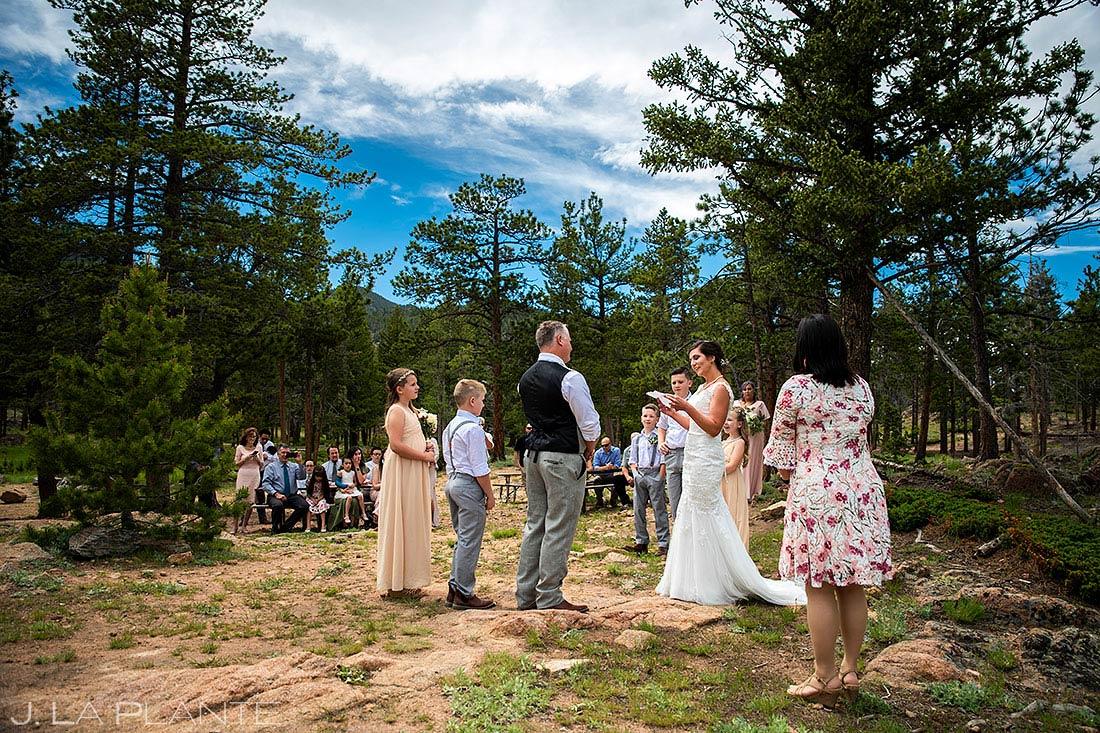 Rocky Mountain National Park Wedding Ceremony | Lily Lake Wedding | Estes Park Wedding Photographer | J. La Plante Photo