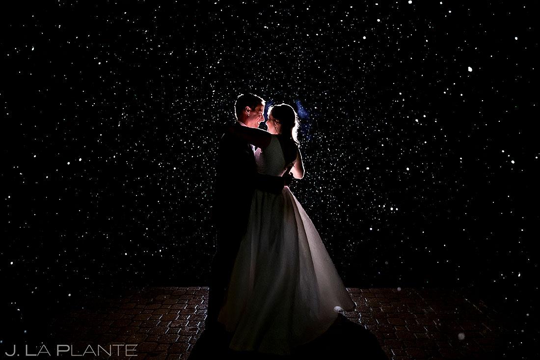 Bride and Groom in the Snow | TenMile Station Wedding | Breckenridge Wedding Photographer | J. La Plante Photo