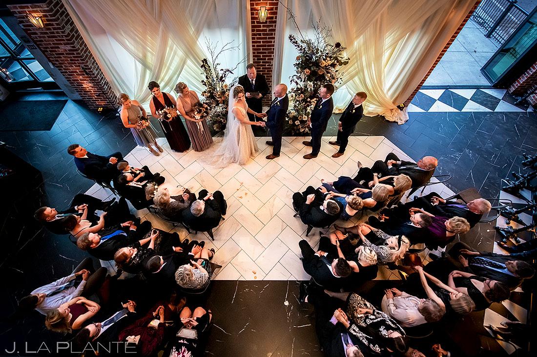 how to choose your wedding venue | ironworks denver wedding ceremony