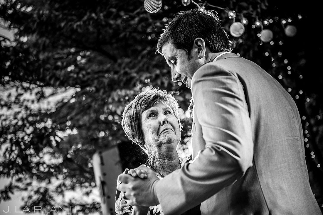 vashon island wedding mother son dance